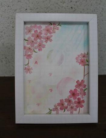 パステルアート・桜②.JPG